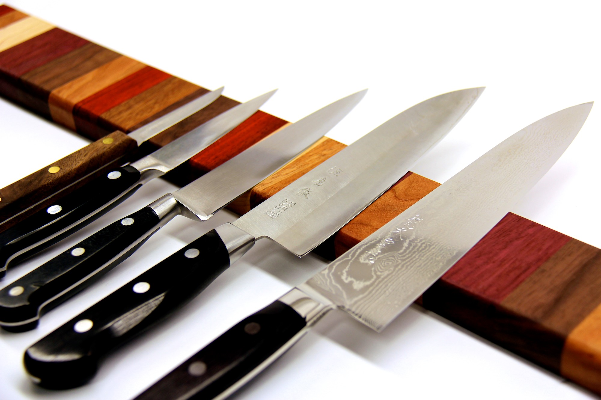 Picture of Rainbow Wood Magnetic Knife Strip