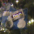 Using scrolling LED badges as Christmas tags!  BTW, they are BestBuy giftcards!