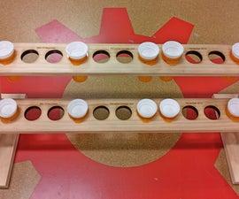 Pill Bottle Storage Rack