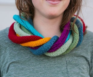 Infinity Times 7 Scarf - Knitting in a Round