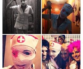Sillent Hill Easy Costume Nurse Horror Disfraz Facil Enfermera Horror Hallowen Carnival