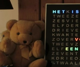Rainbow Word Clock With a Full Rainbow Effect and More