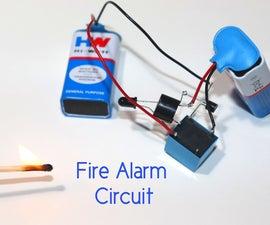 Very Sensitive Fire Alarm Circuit Using Relay