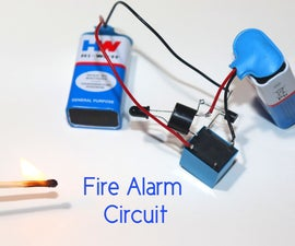 Very Sensitive Fire Alarm Circuit Using Relay