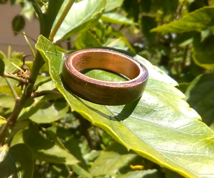 Make a Copper and Veneer Ring