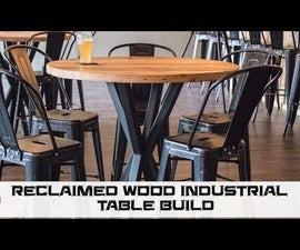 How to Build Reclaimed Industrial Dining Tables
