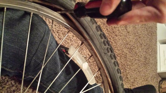 Put Last Section of Tire Back Onto Rim