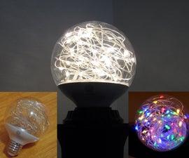 Transform LED Globe Light Bulb Into Fairy Light BULB