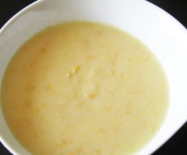 Make left-over rice become a delicious corn soup!