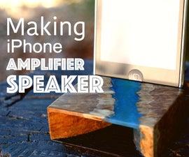 Hybrid Wood IPhone Amplifier Speaker