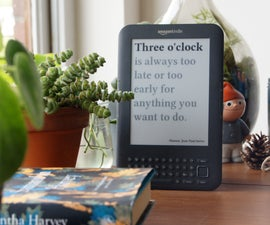 Literary Clock Made From E-reader