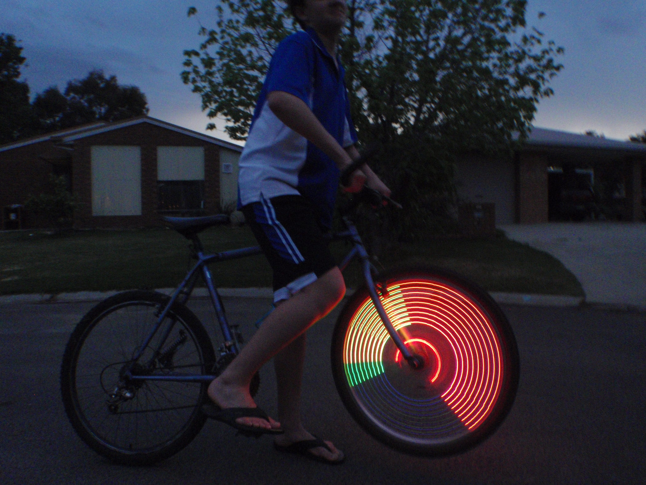 Simple POV Wheel Lights