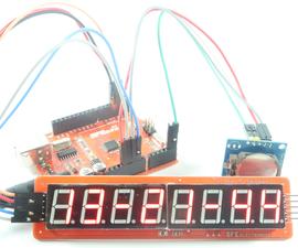 Digital Clock Project Using 8 Digit 7 Segment MAX7219 Module