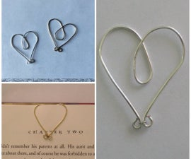 Wire Heart Bookmark Clips