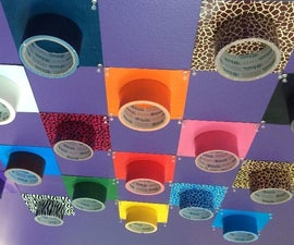 Duct Tape Display Wall