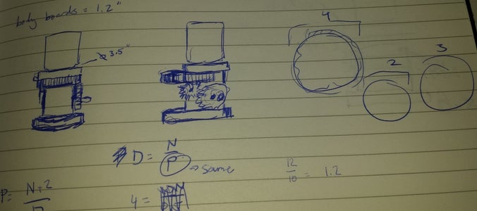 Beginning Sketches and Gear Math