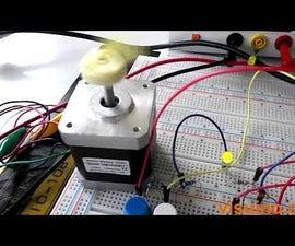 Visuino - Controlling Speed - High Torque NEMA 17 Stepper Motor + DRV8825