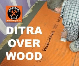 Install DITRA on a Wood Subfloor (stop Cracked Tiles)