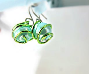Caged Bead Earrings