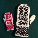 Knitted Big and Small Mittens