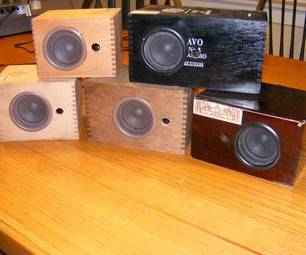 Cigar Box Speaker Cabinets