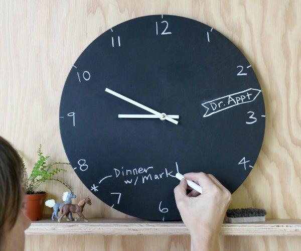 Chalkboard Clock