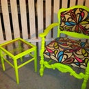 Madge, the funky green chair
