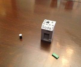 Lego Working Soda Machine!