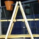Mini DIY Ladder Shelf From Pallet Planks