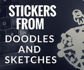 Stickers From Your Doodles And Sketches