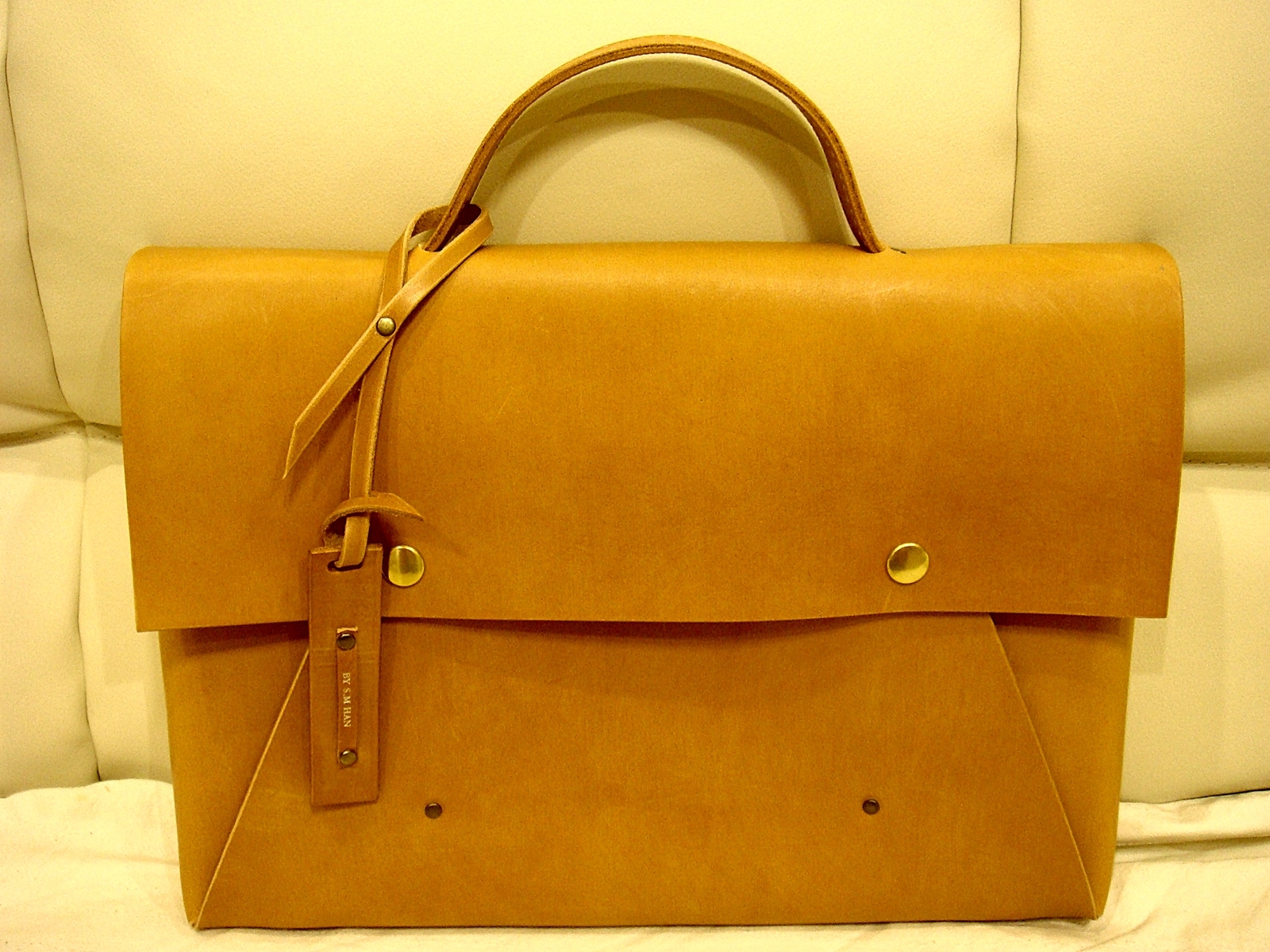 Picture of Simple Leather Briefcase