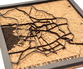 Saint-Petersburg Multi-layer Wooden Map