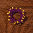 Beaded Crocheted Scrunchies