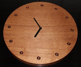 Oak clock made with router