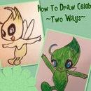 How To Draw Celebi ~Two Ways~