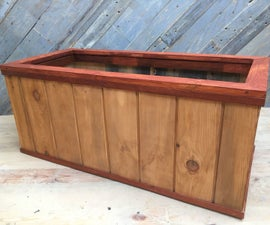 Wooden Planter - Easy Recycled Pallet Project for Your Garden