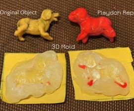 3D Hot Glue Molds for Play Dough Models - FAIL