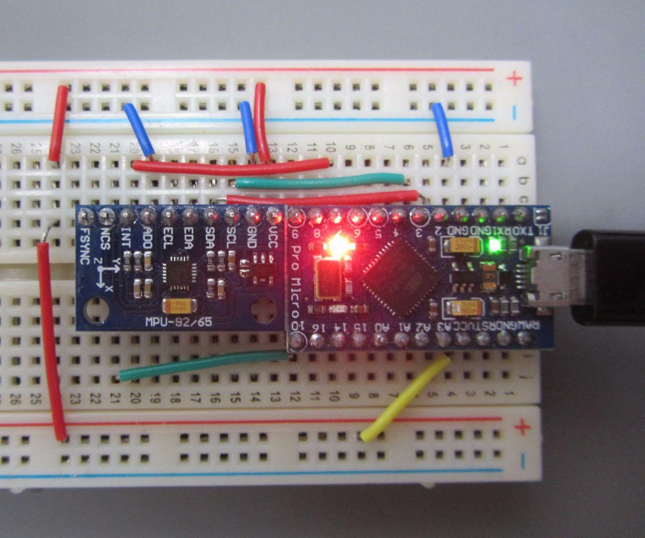 MPU-9150/9250 IMU With Arduino Pro-Micro: 4 Steps