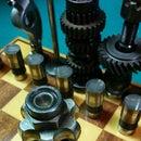Automotive Chess Set: CV Joint Castles
