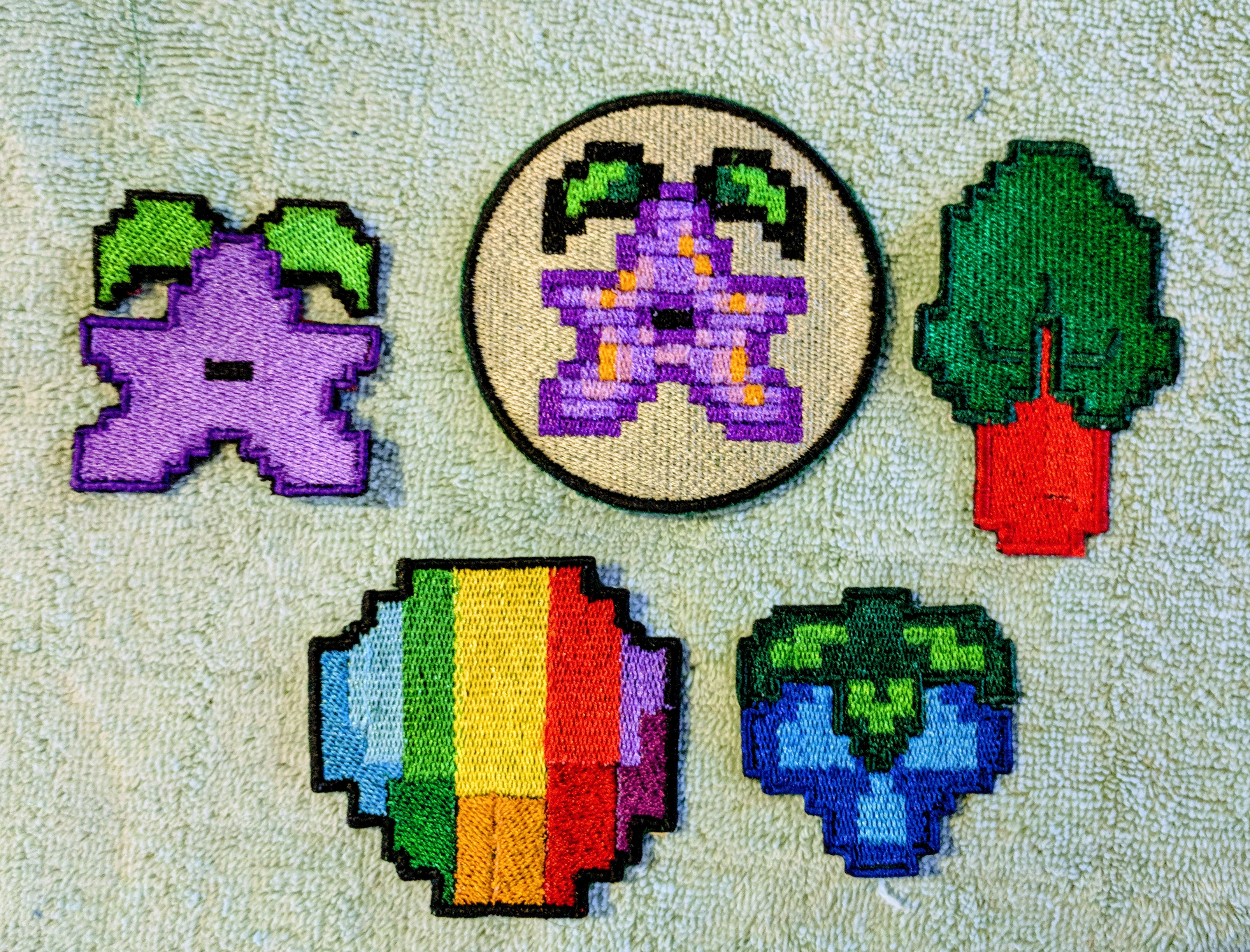 Picture of Iron on Pixelated Patches