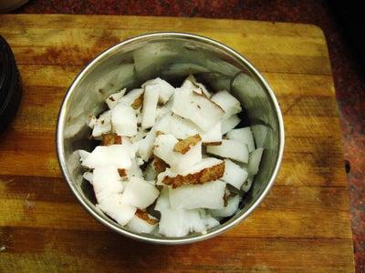 Preparation of Coconut Paste Step 1