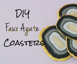 DIY Faux Agate Coasters
