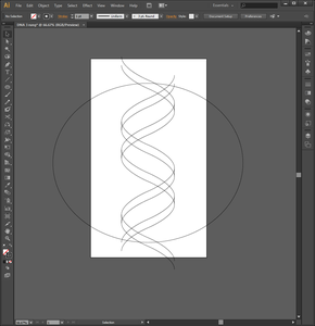 Drawing the Double Helix in Adobe Illustrator (Step 3)