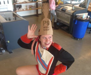 Laser-cut a Drum Major's Hat for Tremendress Tuesday (or Just for Fun)