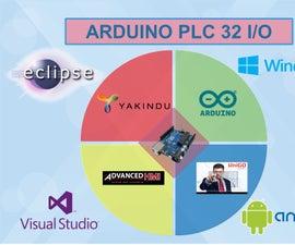 Arduino PLC 32 I/O+State Machine+SCADA or HMI
