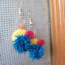 Fringed Paper Quilling Earrings