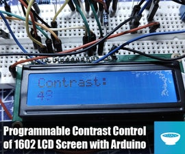 1602 LCD Contrast Control From Arduino
