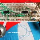 Run HDD spindle motor using IC 555 + 4017 + L293D