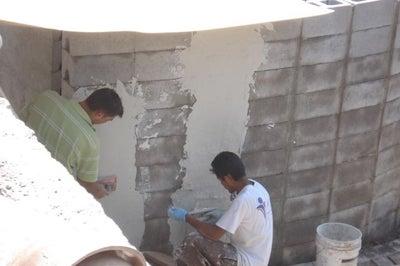 Stack a muro e intonaco