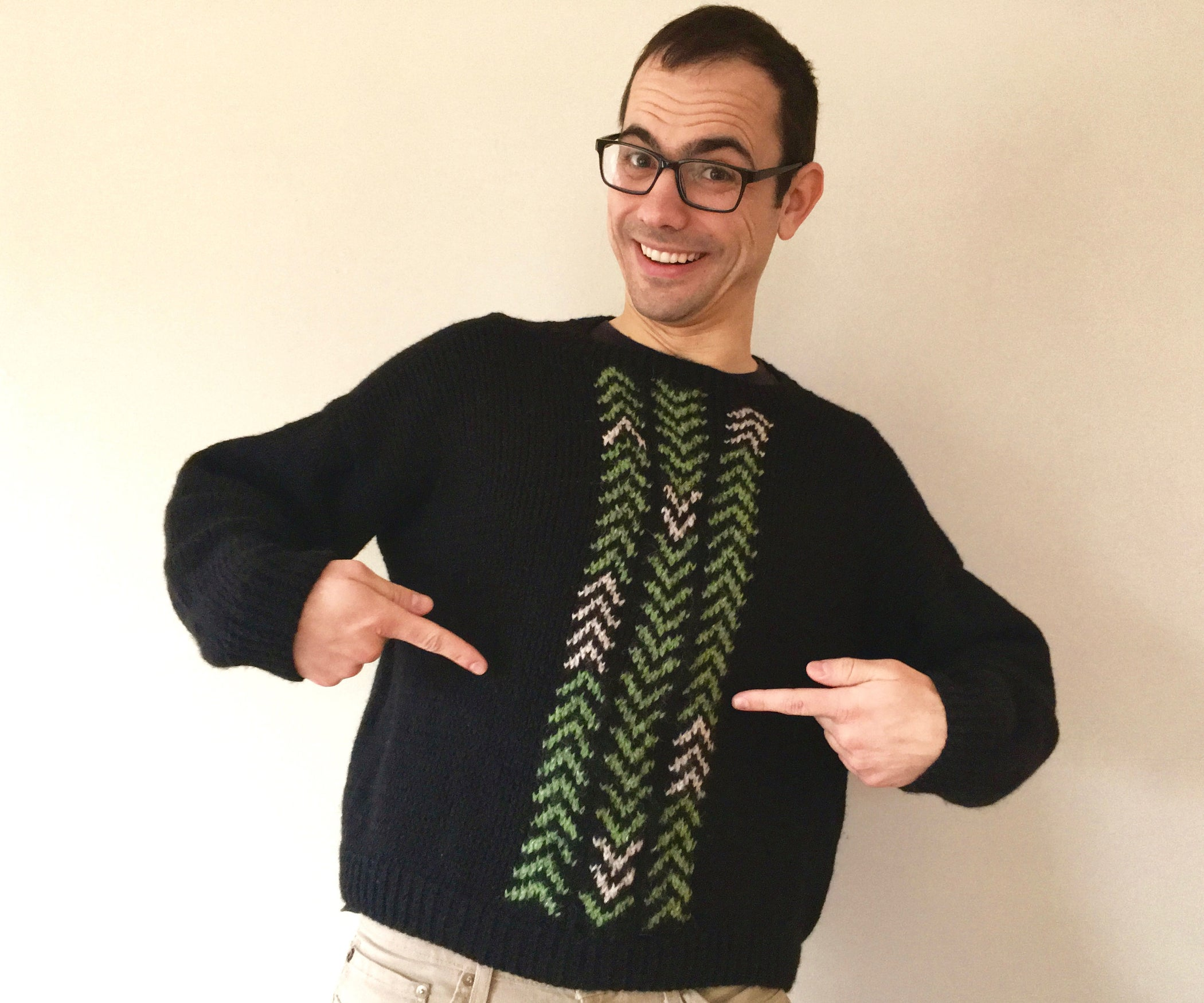 999c61d27923 Hand-knit Adult Sweater  8 Steps (with Pictures)